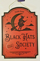 """Halloween Black Hats Society Inquire Inside Witch Sign 9.5""""X13.3"""" w - $6.99"""