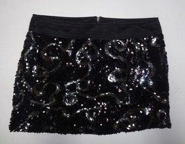 Forever 21 Black Sequined Mini Skirt NWOT SZ M/M - $15.99
