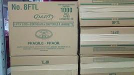 Dart 8 Ounce Foam Cup Lids 1000 Count Tear Tab Convenient Prevents Spills - $40.95