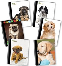 Generation - Puppies - Composition Book, 6 Pack, Wide Ruled, 80 Sheets /... - $33.92