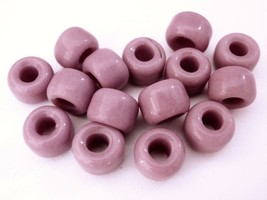 25 5 x 9 mm Czech Glass Crow Beads: Dusted Queen Pink - $1.13