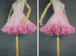 Women Girl Tiered Tutu Skirt Outfit Plus Size Puffy Party Tutu Skirt Blush Pink  image 2
