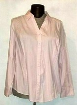 Lane  Bryant Women's Button Down Pink Long Sleeve Shirt Plus Size 26 - $14.99
