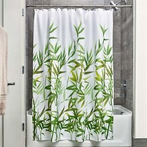 InterDesign Anzu Fabric Shower Curtain, Water-Repellent Bath Liner for K... - $10.63