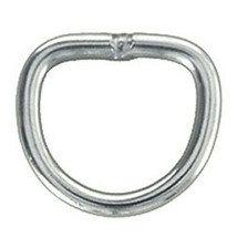 Hilason 1/2 Inch X 5Mm Stainless Steel Welded Wire Dee Ring 20 Pcs U-TY20 - $15.83