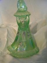 Fenton Art Glass Iridized Aquamarine Bridesmaid Doll Figurine - $65.44