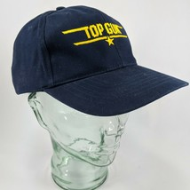 Top Gun US Navy Blue Embroidered Gold Star Ball Cap Hat Adjustable Strap... - $14.01