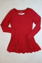 Children's Place Girls Dress Sz XL 14 Red Heart Cut Out Back Jersey Knit... - $21.77