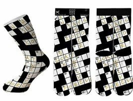 Odd Sox Mots Croisés Puzzle Chaussettes Checker OSWIN16WORD 6-13 Nwt