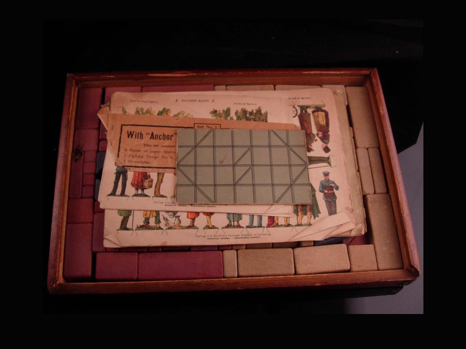 1911  building blocks set - Anchor Stone Blocks - Antique Toy - classic vintage