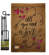 All You Need is Love Burlap - Impressions Decorative Metal Garden Pole F... - $33.97