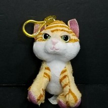 "Russ Li'l Peepers Amber Plush Stuffed Soft Cat Belt Backpack Clip Orange 5"" - $11.87"