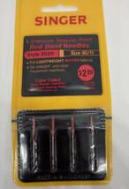 Singer Machine Needles 4 Premium Regular Point Red Band Style 2020 Woven... - $10.88