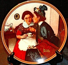 """1983 """"Gossiping in the Alcove"""" by Norman Rockwell Plate ( Knowles )  with Box AA"""