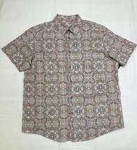 Tasso Elba Mens Printed Shirt Khaki Combo 2XL - $37.61