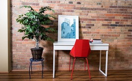 Artificial Natural Ficus Bush Dark Green Leaves Stylish Home Office Decor - $62.63