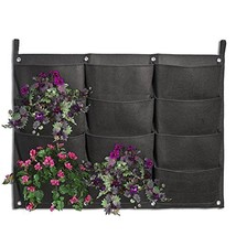 Planter Pockets, Kisstaker 12 Pocket Vertical Wall Planter Bag Garden Ha... - €16,45 EUR