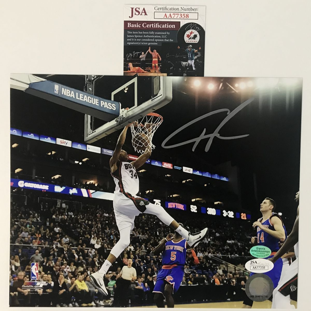 Autographed Signed Giannis Antetokounmpo and similar items. S l1600 d79532c69