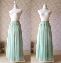 SAGE GREEN Women Tulle Maxi Skirt Sage Green Wedding Tulle Bridesmaid Skirt Maxi image 2