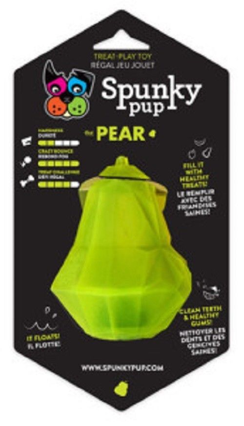 Spunky Pup Treat Holding Play Toy - Pear (For Small-Medium Size Dogs)