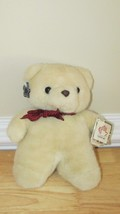 Applause Wallace Berrie vintage 1985 plush cream white Taffy teddy bear ... - $14.99