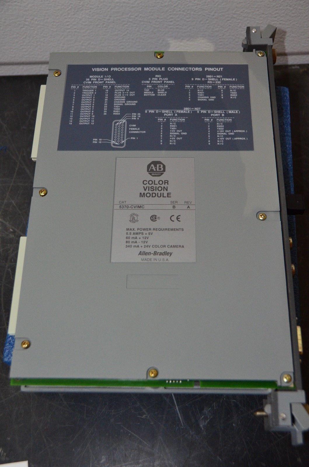 Allen Bradley 5370-CVIMC Color Vision Module Ser A Rev C w/ Manual & Memory Card