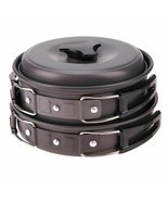 Pot Camping Cookware Bowl Outdoor Picnic Cooking Set Pan Hiking Backpack... - $24.96