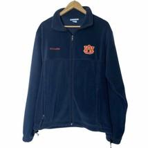Columbia University Of Auburn Tigers Full Zip Fleece Jacket Mens Medium M - $39.60