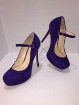 JESSICA SIMPSON Suede Pointy Toe Platform High Heel with Strap Pumps 8 M... - $18.69