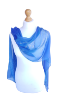 The Tempest, Shakespeare quotes Iridescent Silk Scarf Literature Hand Pa... - $76.00