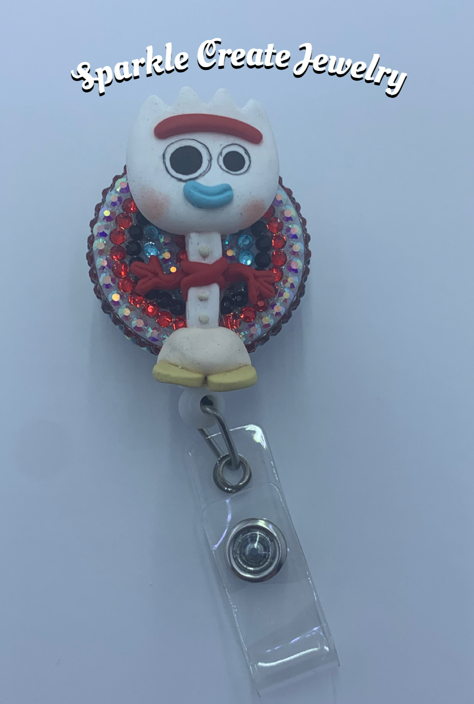 Forky Clay Badge Reel