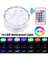 Submersible 10 LED Multicolor Waterproof Light RGB Vase Wedding Party Fi... - $14.84