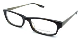 Barton Perreira Nickelas Eyeglasses Frames 53-16-145 Dark Walnut/ Antique Gold M - $78.40