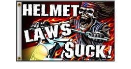 Helmet Laws Suck 3' x5' Flag with Grommets - $7.92