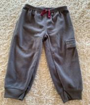 Child Of Mine Boys Gray Fleece Jogger Pants Pocket 18 Months - $5.00