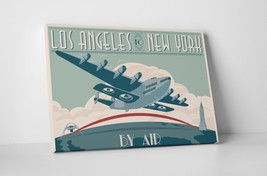 "L.A. To NYC by Steve Thomas Gallery Wrapped Canvas 16""x20"" - $44.50"