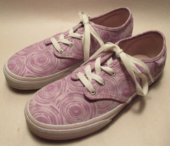 Vans Off the Wall Girls Youth Missy sz 4 Lavender Lace Up Padded Sneaker... - $12.85