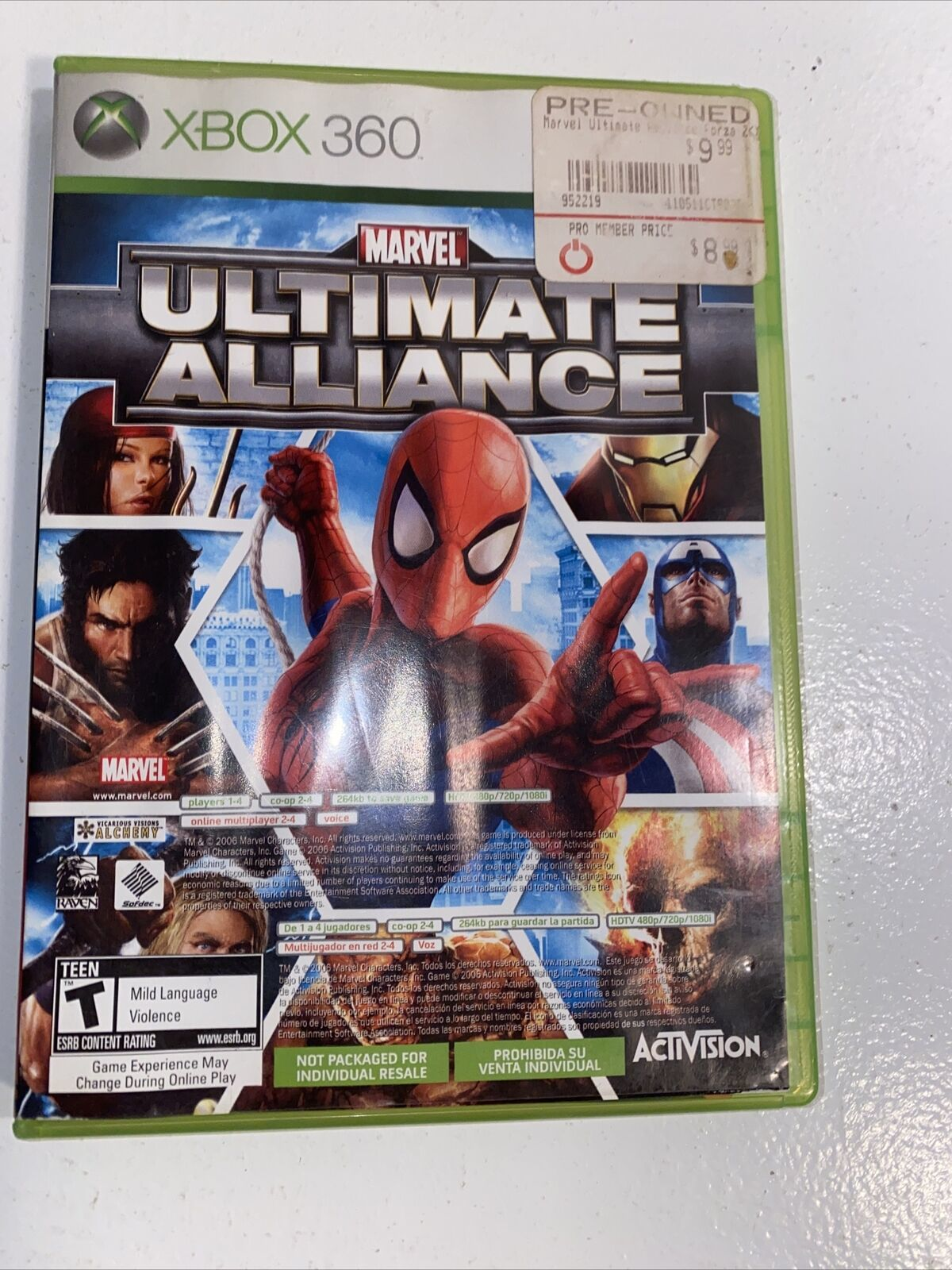 Primary image for Marvel: Ultimate Alliance/Forza Motorsport 2 (Microsoft Xbox 360, 2007)