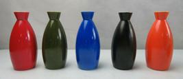 Vintage Porcelain Ceramic OMC Japan Sake Bottles Or Vases Set Of 5 Moder... - $65.00