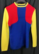 Vintage Lido of California Virgin Wool Womens Ski color block Sweater Si... - $29.05