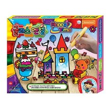 Donerland Glass Angel Happy Time Peelable Paint Sticker Pen with Base Sketch Toy image 1