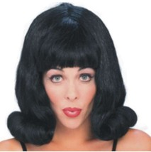 Wig - 60's Flip - Black - Adult - One-Size-Fits Most - Hairspray Grease  - $11.24