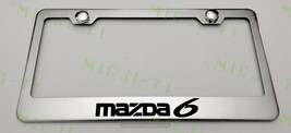 Mazda 6 Stainless Steel Metal License Plate Frame Rust Holder Free W/ Bolt Caps - $13.50