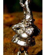 HAUNTED LUCKY GNOME PENDANT OF MIRACLE HAPPENINGS!  POWERFUL MAGICK! 925  - $60.00