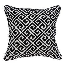 """20"""" x 7"""" x 20"""" Cool Transitional Black and White Pillow Cover With Poly ... - £43.94 GBP"""