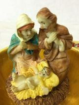 Vintage Red and Gold Egg Metal and Enamel Trinket Box Nativity Christmas image 5