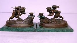 Brass and Porcelain Flying Angel Candleholder - $250.00