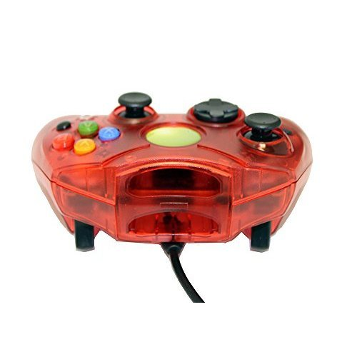 Replacement Controller For Xbox Original Red Transparent By Mars Devices