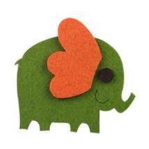 PANDA SUPERSTORE Set of 5 Funny Refrigerator Magnets Elephant Pattern Kitchen Ma
