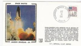 LAUNCH SPACELAB-D1 KENNEDY SPC CTR, FL 10/30/85 IASP SERIES #117 Z SILK ... - $2.98